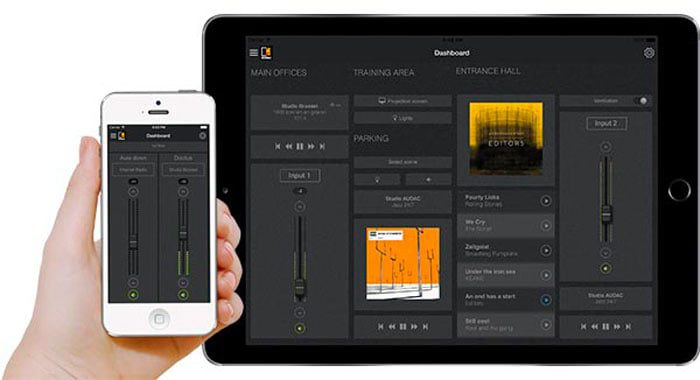 Application Controle Audio Audac Touch