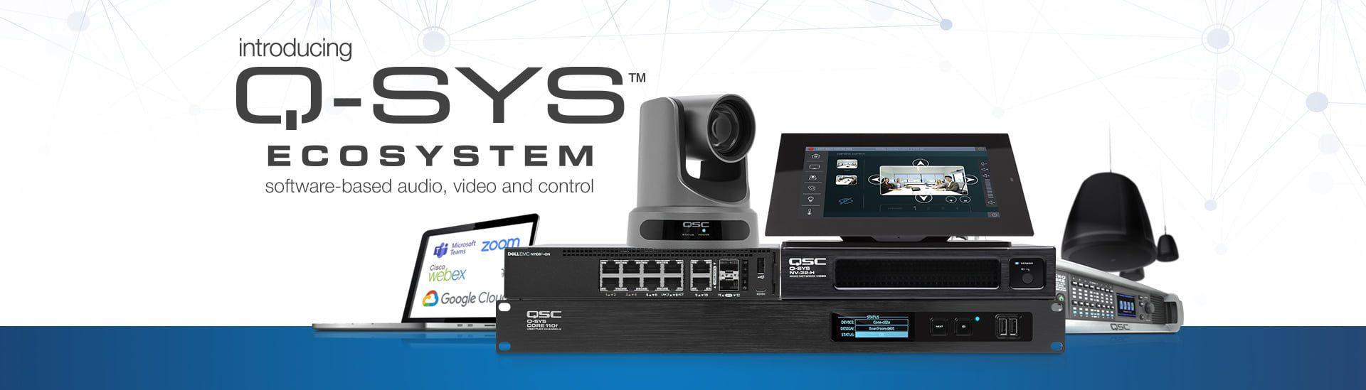Système Visioconférence Q-SYS, QSC